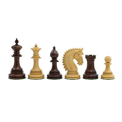 The Large Lemington Rosewood Luxury Chessmen with 4.25 inch King RCP147