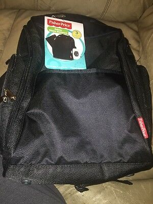 Fisher-Price Fastfinder Dome Backpack Deluxe Diaper Bag - Black