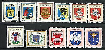 LITHUANIA 1992/2010 COATS of ARMS/EMBLEMS/CASTLE/KNIGHT/DEER/SWAN/BEE/BISHOP