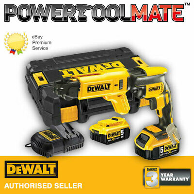 DeWalt DCF620P2 18V XR Brushless Drywall Screwdriver Kit with 2 x 5Ah Batteries