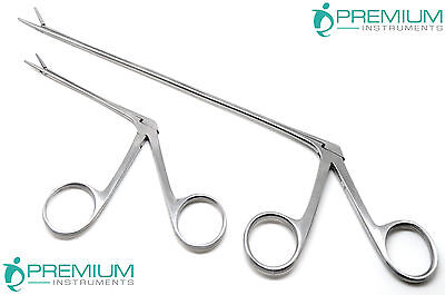 "2 Pcs Hartman Alligator Forceps 3.3"" & 8"" ENT Surgical Ear Serrated Instruments"