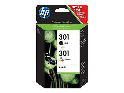 2 cartuchos hp 301 negro + color originales 100%