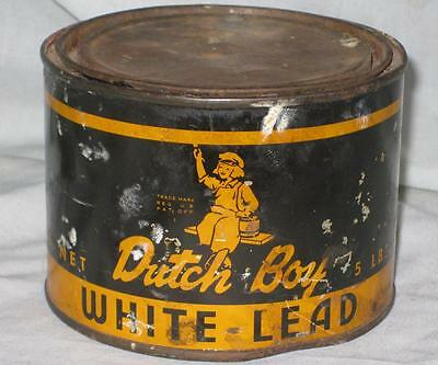 "Dutch Boy Advertising Can for ""White Lead"" 5 Pound Size"