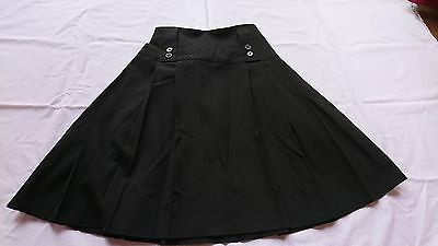 Girls Black pleated school skirt from M&S age 13-14 years