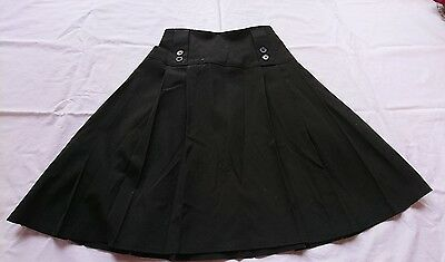 Girls black pleated school skirt from M&S age 13-14