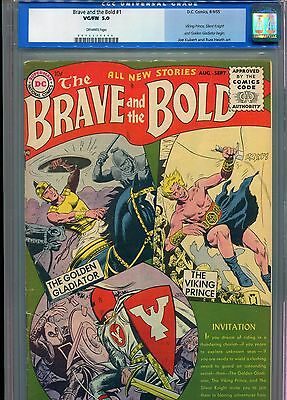 Brave and the Bold 1 CGC 5.0 OW Pages First issue RARE!!! 1955 old label