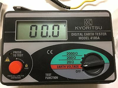 KYORITSU 4105A Digital Earth Tester Resistance Meter With a Suitcase