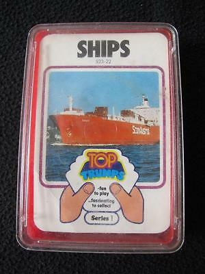 VINTAGE 1970's PACK of DUBREQ TOP TRUMPS GAME CARDS - SERIES 1 - SHIPS