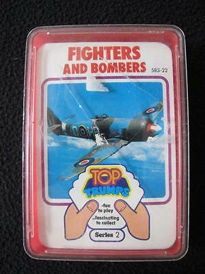 VINTAGE 1970's PACK DUBREQ TOP TRUMPS GAME CARDS - SERIES 2 - FIGHTERS & BOMBERS