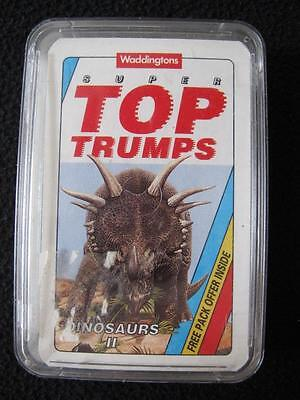VINTAGE 1990's PACK of SUPER TOP TRUMPS GAME CARDS - DINOSAURS II
