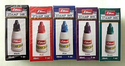Permanent Stamp Pad INK REFILL 1 Oz By Shiny Your Choice Of