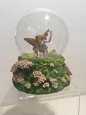 Past Times Flower Fairy Musical Water globe Snow Dome For Repair