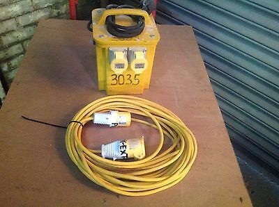 110V TRANSFORMER. 3kVA YELLOW SITE TRANSFORMER WITH YELLOW EXTENSION LEAD