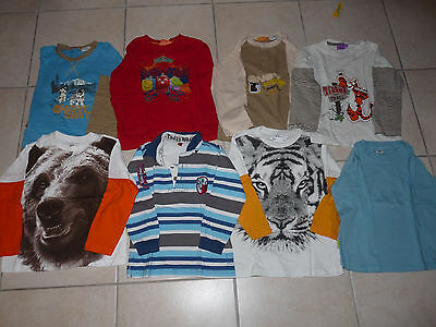 Lot de 8 T-shirts manches longues dont 1 OFFERT - taille 5 ans - TBE- TF14