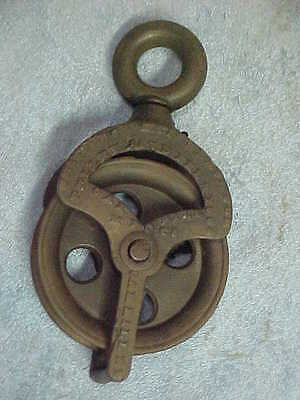 Rare Antique Whitcombs Hay Elevator Pulley, Oak Hill, NY Patented 1864