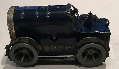 Vintage Triang Minic  Blue  Crawler Tractor Clockwork Tinplate
