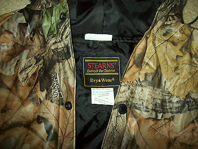 Stearns Dry Wear Advantage Timber Camo Rain Jacket L Nr*