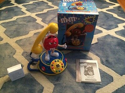 M&M'S Voice Activated Animated Telephone Mars Inc Collectible Talking Phone