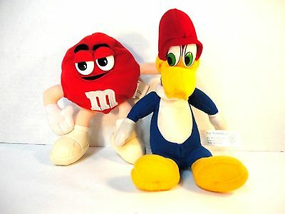 1999 Woody Woodpecker & Red M&M bean bag Characters