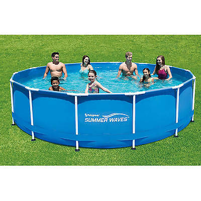 summer waves 15 x 48 round metal frame above ground swimming pool pick