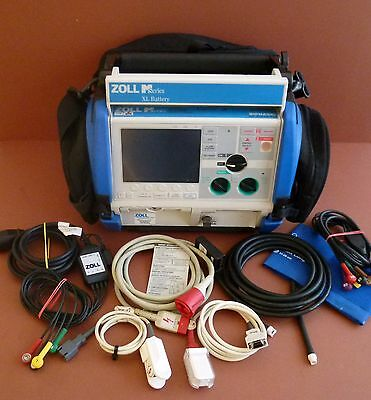 Zoll M Series Defib 12 Lead ECG,SPO2,NIBP,Therapy Cable,Zoll Extreme Case+Pacer
