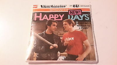 Viewmaster packet set 3d HAPPY DAYS Factory Sealed the fonz