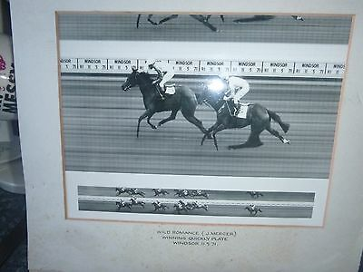 Rare Photo Finish Print Of Joe Mercer Winning At Windsor 1971