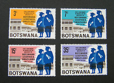 1967 Botswana First Confirment of Degrees Set. MNH.