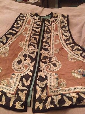 Antique Chinese Vest with Embroidery Details as-Is