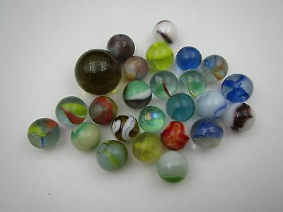 Sold As One Lot 25 Vintage Marbles #26