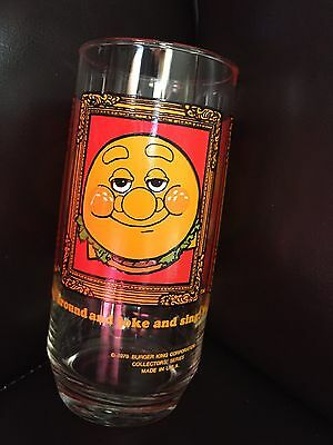 Burger King Burger Thing 1979 Collectable Glass
