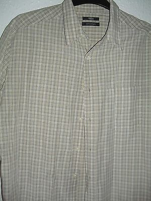 mens soft touch neutral checked shirt by M&S size XL