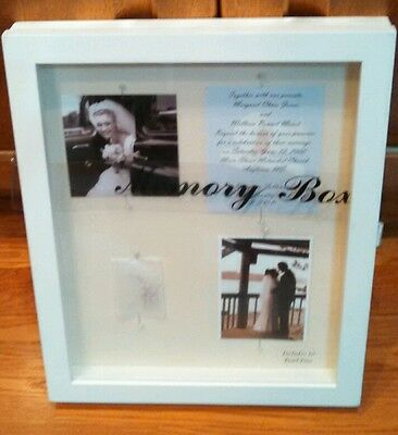 Memory Box with clear cover. Perfect 4 weddings communion graduation funeral NEW