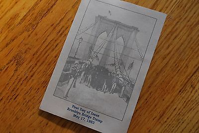Brooklyn Bridge Stamp First Day of Issue
