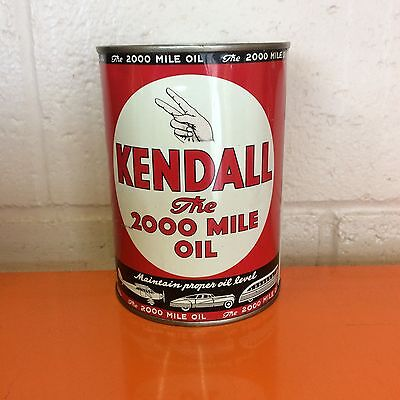 kendall oil can vintage