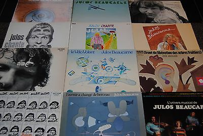 Lot 12 X Lp Vinyl *julos Beaucarne* Disques 33 Tours