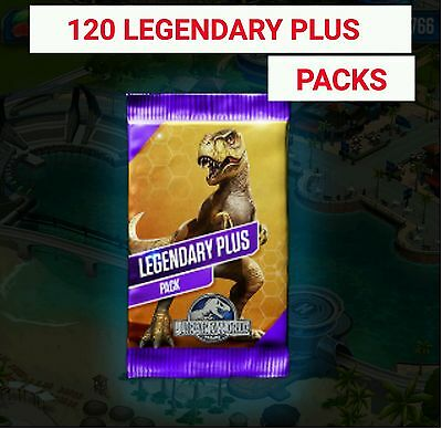 Jurassic World The Game Builder 120 LEGENDARY PLUS Packs DNA PACKS Park