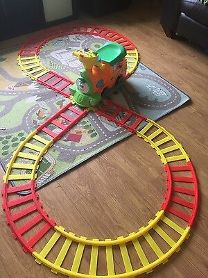 toy sit and ride along train with track, battery operated