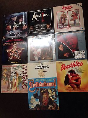 12 X Various Laserdisc Collection Job Lot Some NEW & SEALED Pal Laservision