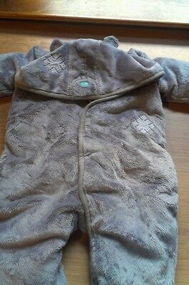 Marks and spencers bear baby snowsuit age 3 to 6 months