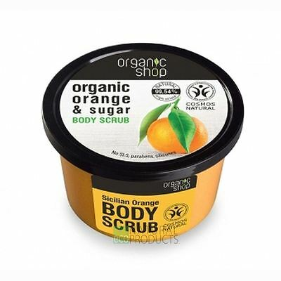 Organic Shop Body Scrub Natural Sicilian Orange and Sugar 250ml