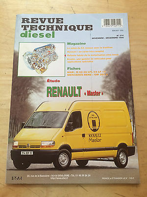 Rtd Revue Technique Diesel N° 214 Renault Master / 1998 /104 Pages + Fiches