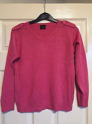 Boys Next Fuschia Long Sleeve Thin Jumper Size 9 years