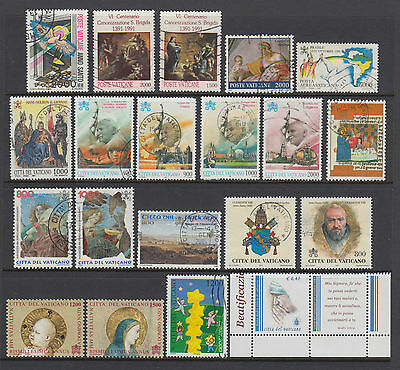 Vatican City 1983-2003 Selection Used Hinged No Gum