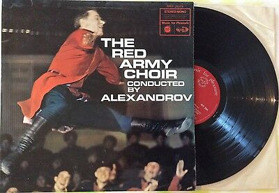 "The Red Army Choir Vintage 12"" Vinyl LP Record Russian Folk Music by Alexandrov"