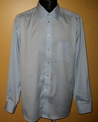 Men's* Eton * Long Sleeve * Papyrus White * 100% Cotton * Size- 46/18/2Xl *shirt