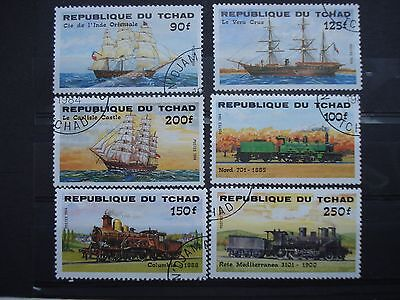 6 Used Stamps Transport Thematics