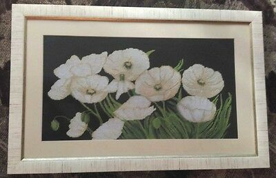 Embroidered Picture with Cross, ''White Poppies''