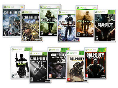 Call of Duty Xbox 360 Magnet Collection - Modern Warfare, Black Ops, Infinite, A