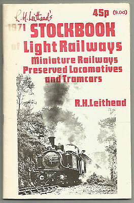 R H Leithead's 1971 Stockbook of Light Railways